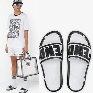 FENDI Joshua Vides Men's Leather Slides Fussbetts